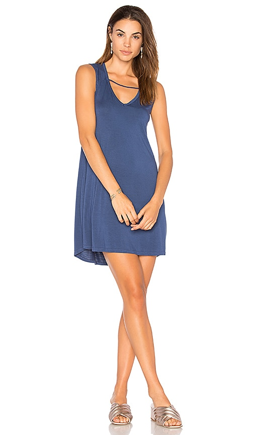 Michael Lauren Cannon Strappy Tank Dress in Blue
