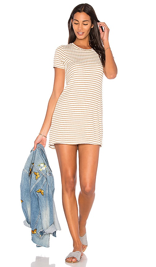 Michael Lauren Ridge Mini Dress in White