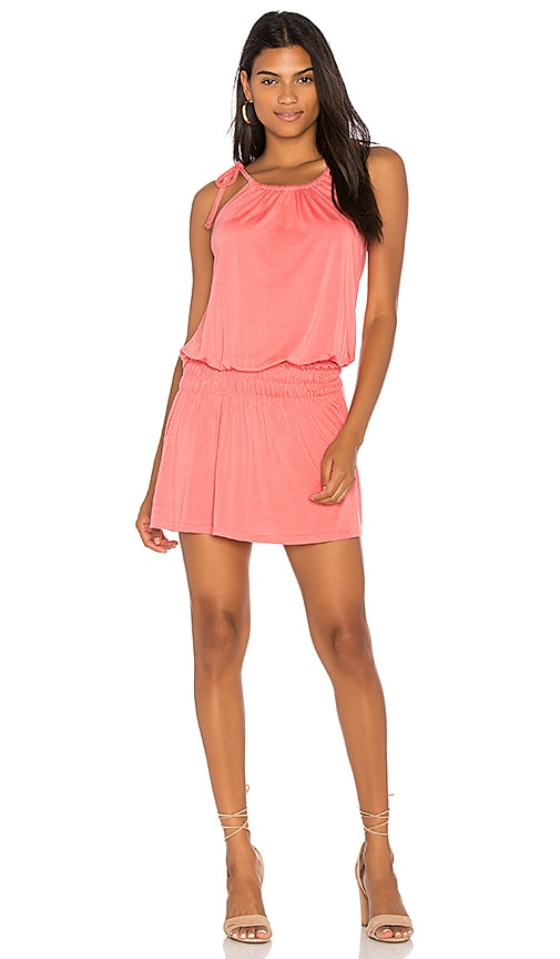 Michael Lauren Kentmore Tank Dress in Coral