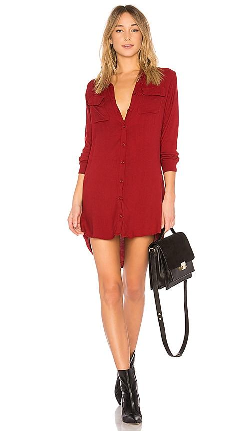 Michael Lauren Charlie Dress in Red