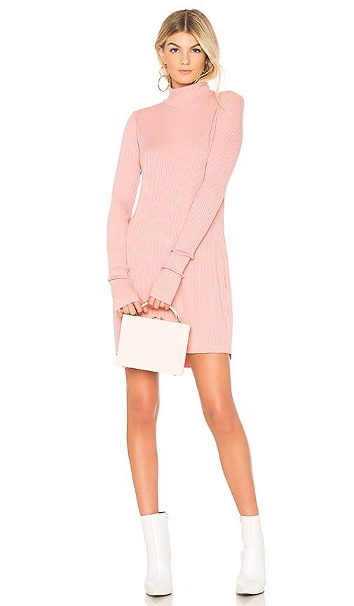 Michael Lauren Muse Long Sleeve Dress in Pink