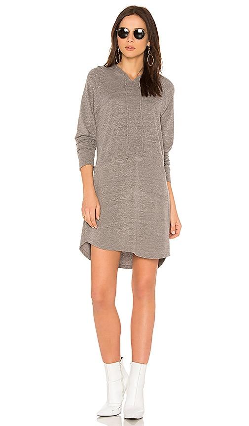 Michael Lauren Erwin Sweatshirt Dress in Gray