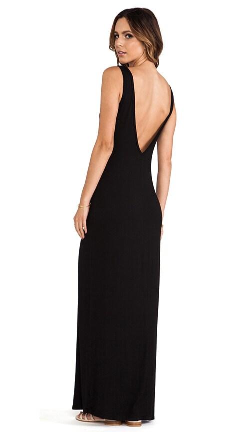 906d04c857c8 Michael Lauren Langley Deep V Back Maxi Dress in Black