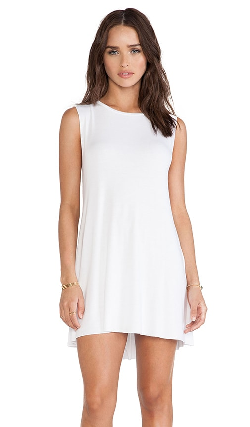 Michael Lauren Gilly Sleeveless Dress in White