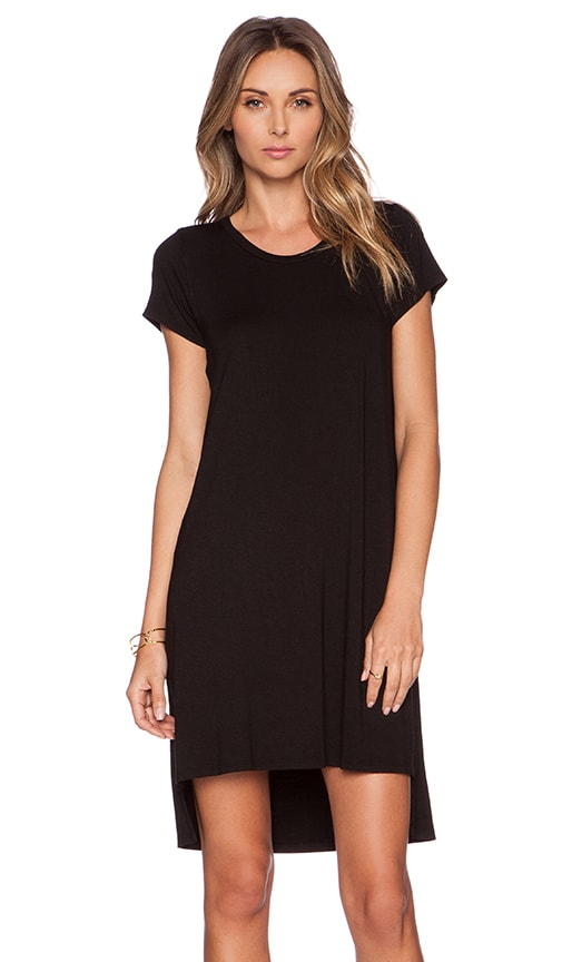 Michael Lauren Lucky Side Slit Dress in Black