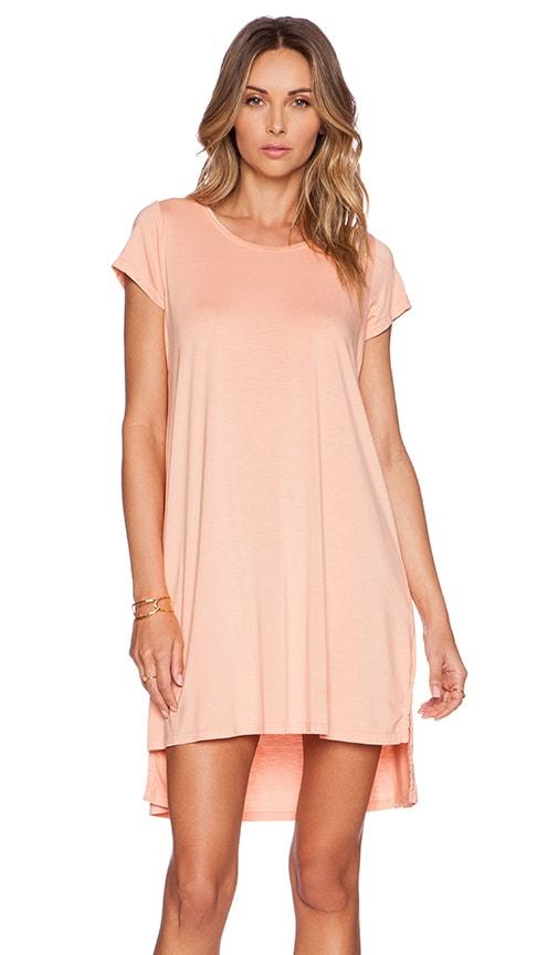 Michael Lauren Lucky Side Slit Dress in Peach Sky