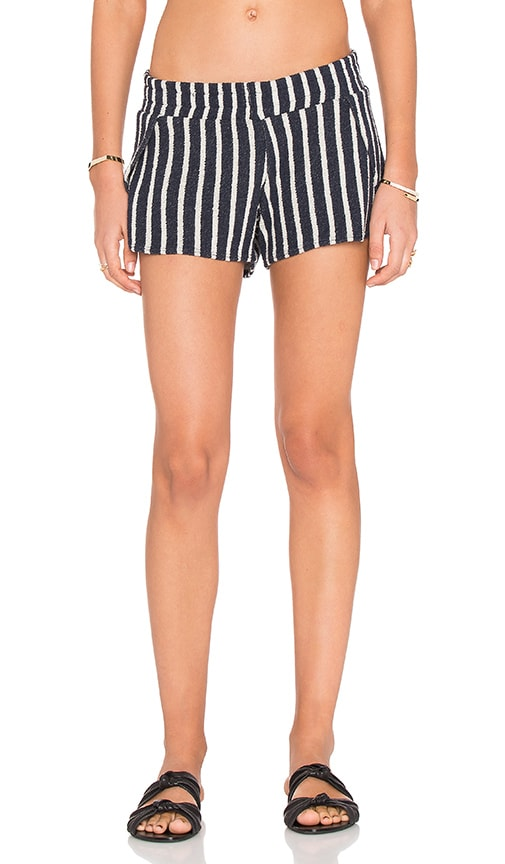 Michael Lauren Jango Stripe Short in Navy