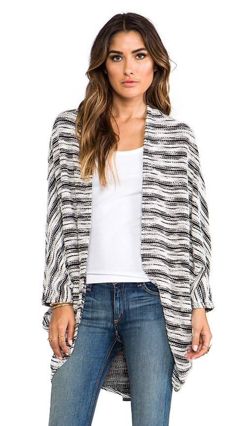 Easton Slub Draped Cardigan