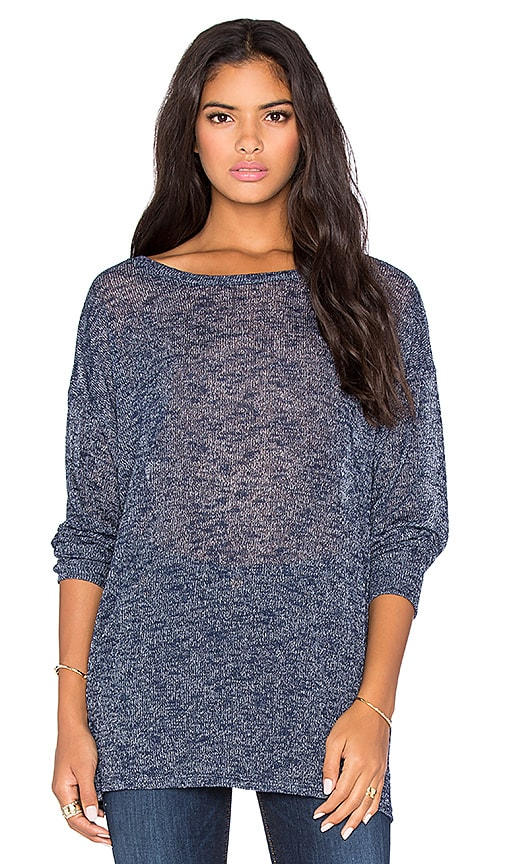 Michael Lauren Jiles Oversized Draped Sweater in Midnight