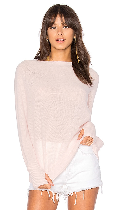 Michael Lauren Gabriel Cashmere Sweater in Pink