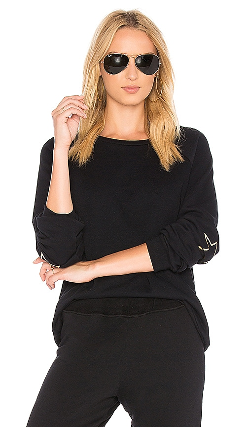 Michael Lauren Oswald Vintage Pullover with Foil Stars in Black