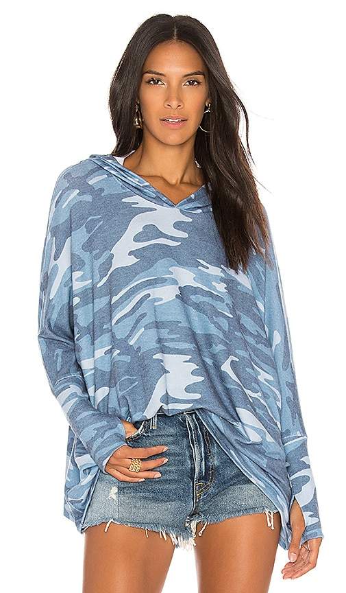 Michael Lauren Dash Sweatshirt in Blue