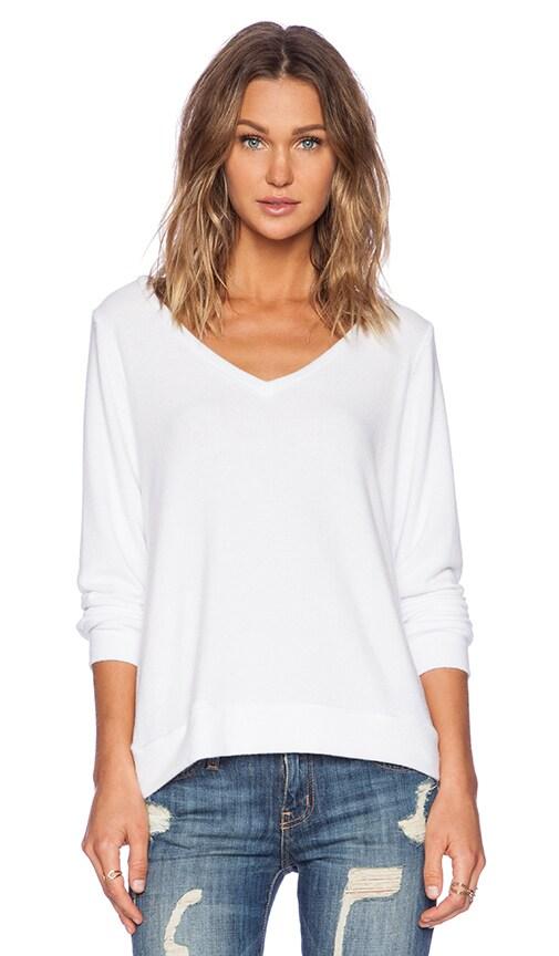 Michael Lauren Gregory V Neck Sweatshirt in White