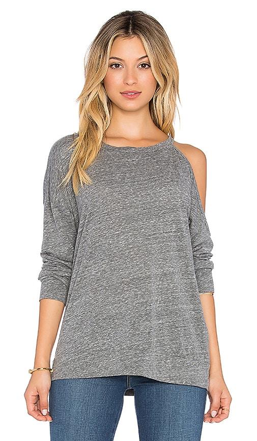 Michael Lauren x REVOLVE Buck One Shoulder Sweatshirt in Heather Grey