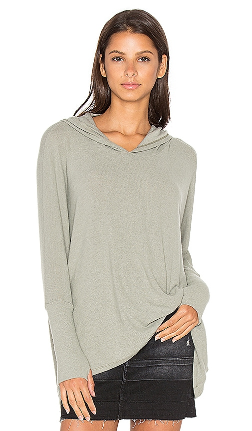 Michael Lauren Dash Pullover with Hood in Sage