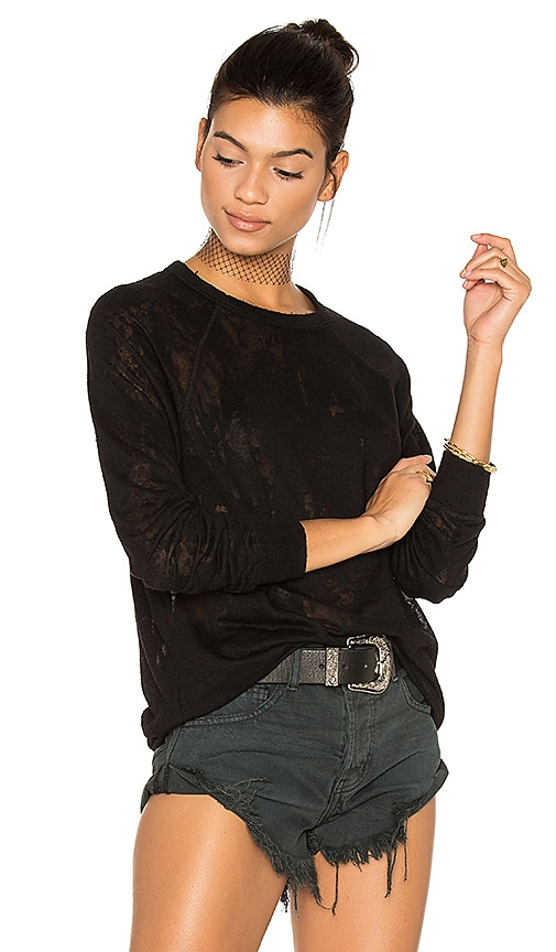 Michael Lauren Donnie Vintage Pullover in Black
