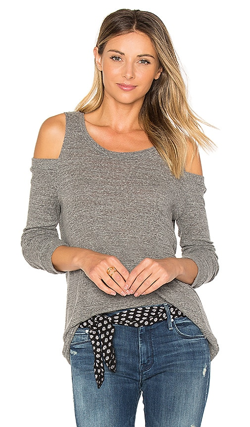 Michael Lauren Turner Cold Shoulder Pullover in Gray