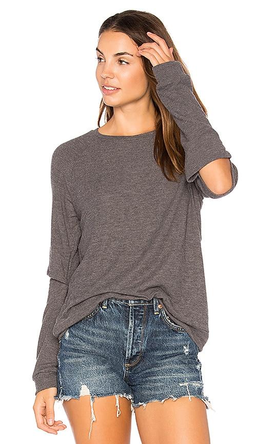 Michael Lauren Briggs Slit Sweatshirt in Gray