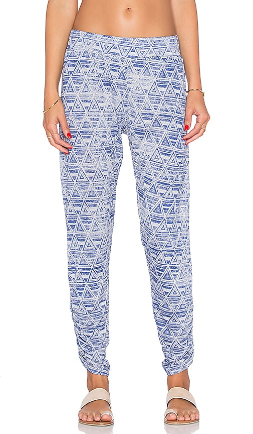 Michael Lauren Pablo Shirred Pant in Heather Grey Triangle