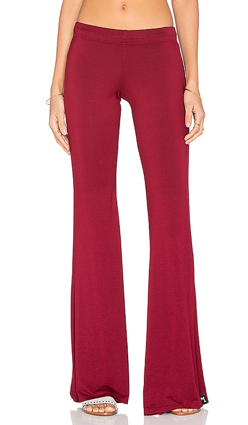 Michael Lauren Mars Bell Pant in Rouge