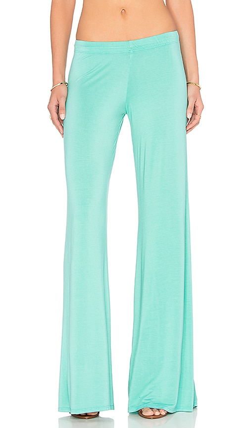 Michael Lauren Derby Wide Leg Pant in Turquoise