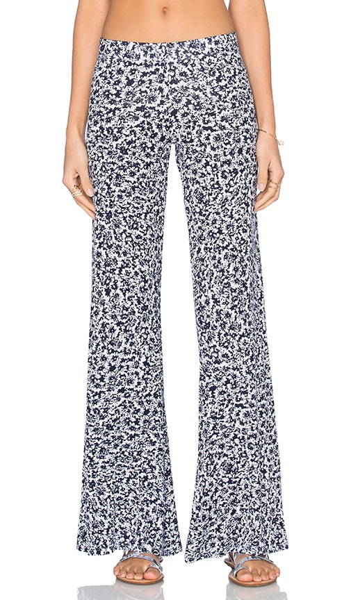 Michael Lauren Derby Wide Leg Pant in Navy Floral