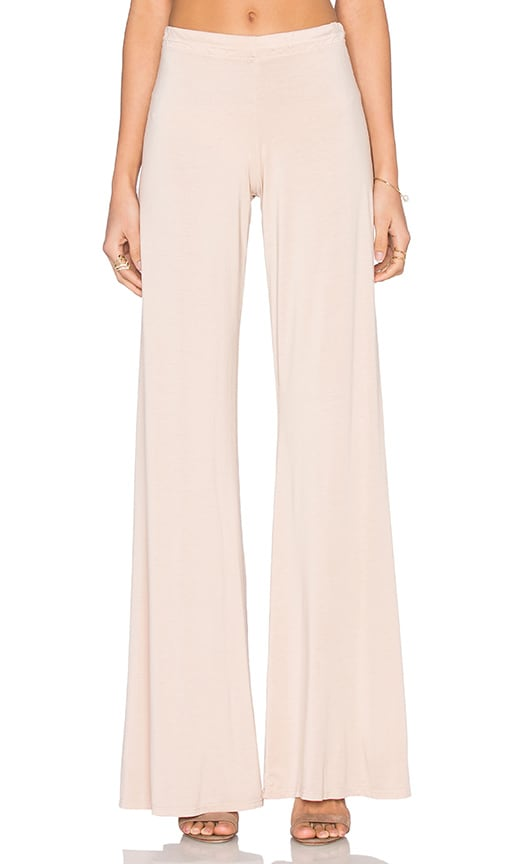 Michael Lauren Derby Wide Leg Pant in Rose