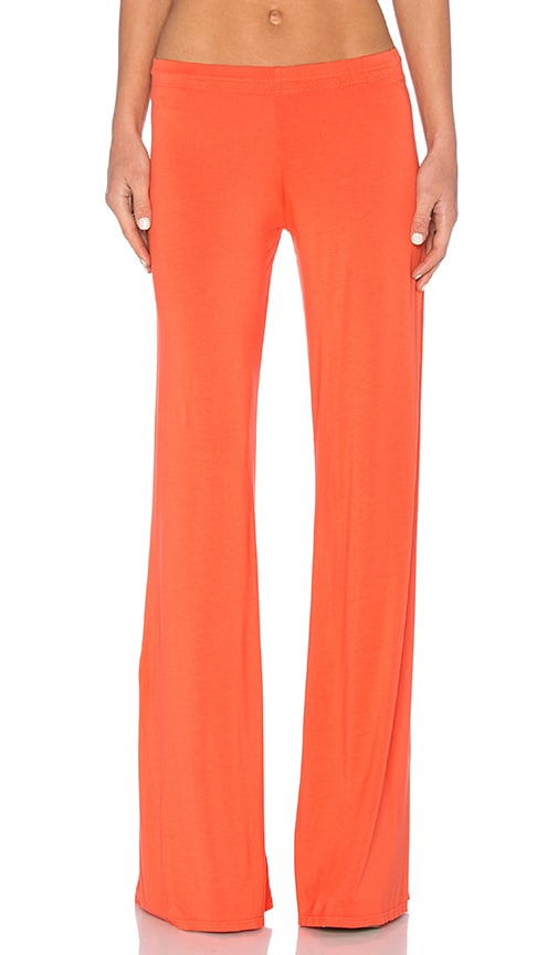 Michael Lauren Derby Wide Leg Pant in Orange