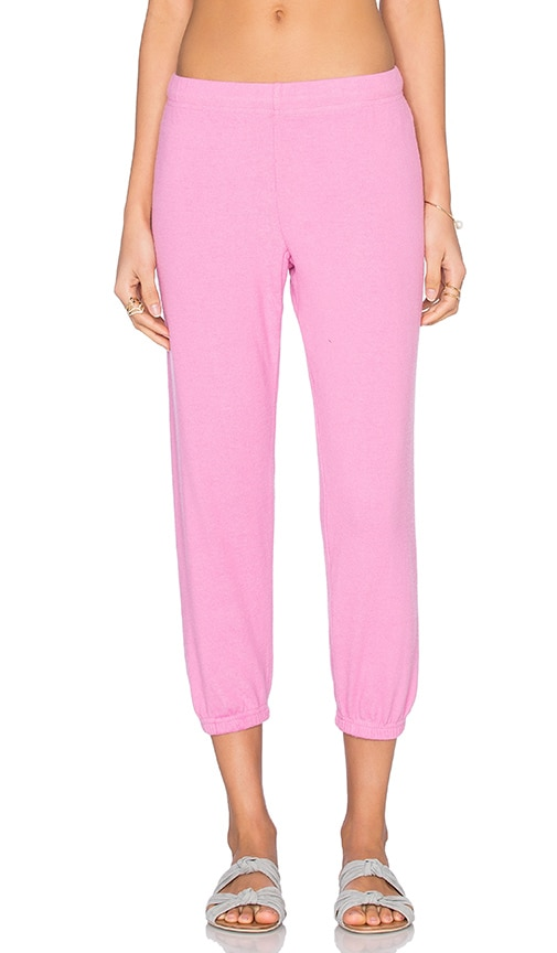 Michael Lauren Nate Crop Sweatpant in Pink