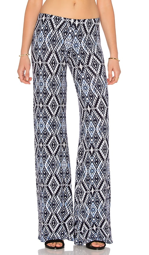 Michael Lauren Derby Wide Leg Pant in Faded Navy