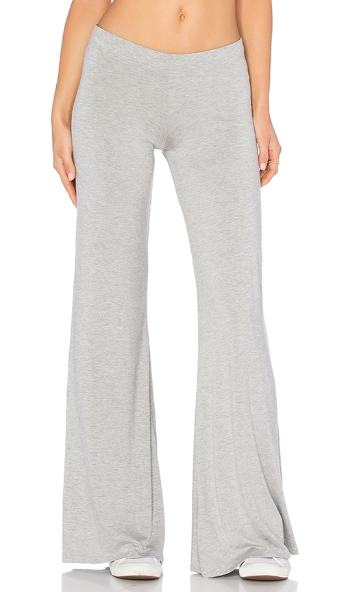 Michael Lauren Derby Wide Leg Pant in Gray