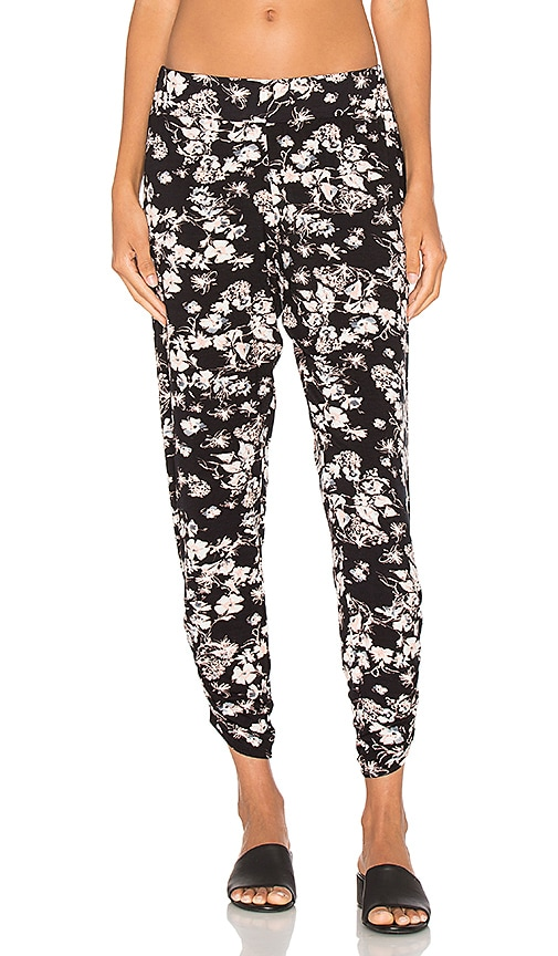 Michael Lauren Pablo Shirring Pant in Black