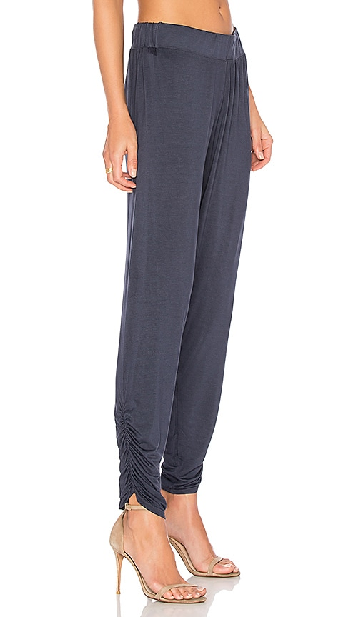 Michael Lauren Pablo Shirred Pant in Navy