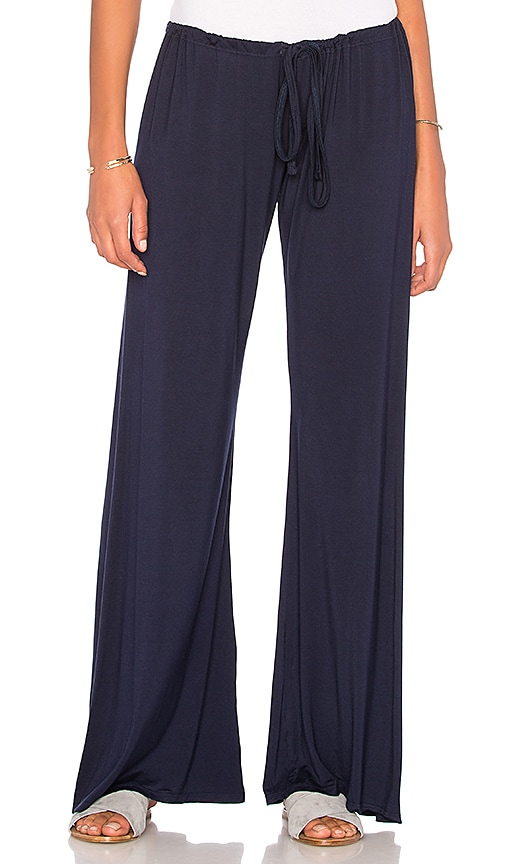 Michael Lauren Barto Wide Leg Pant in Navy