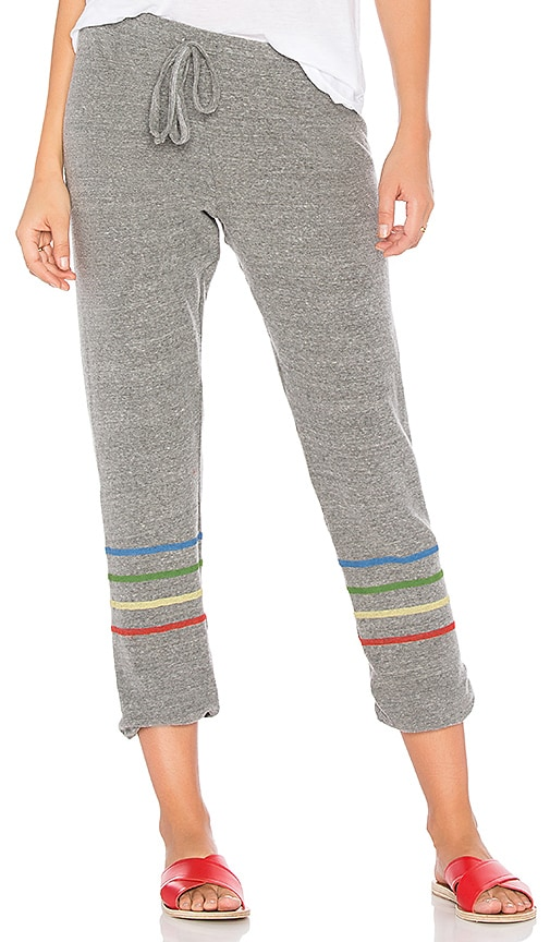Michael Lauren Shepherd Lounge Pant with Stripes in Gray