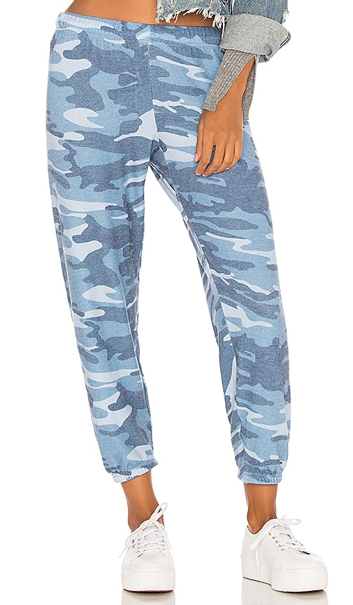 Michael Lauren Nate Sweatpant in Blue