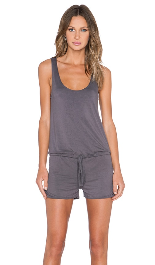 Michael Lauren Bello Tank Romper in Coal