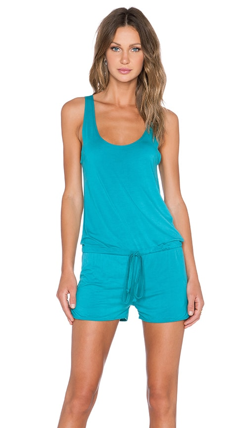 Michael Lauren Bello Tank Romper in Lagoon