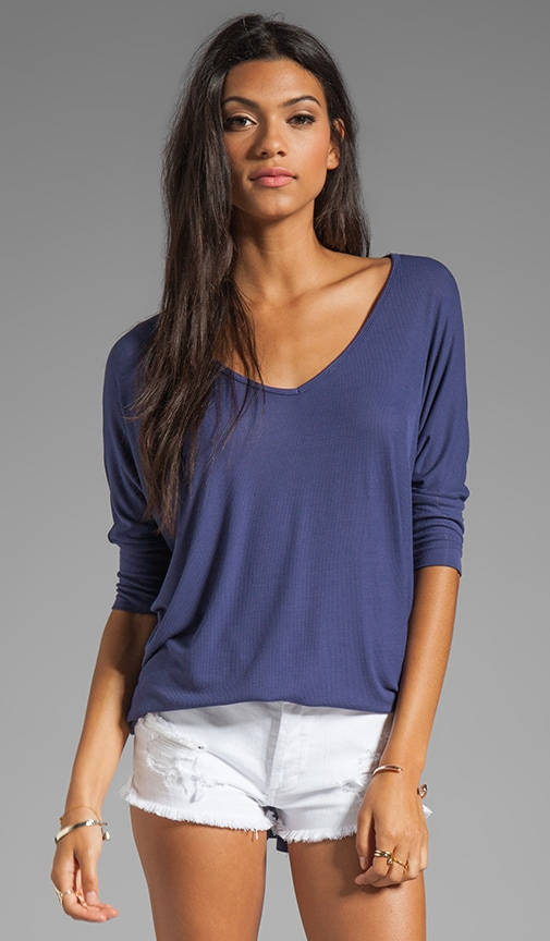 Dylan 3/4 Sleeve Draped Tee