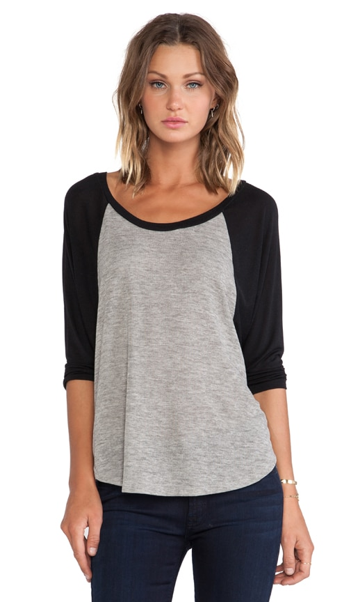 Michael 3/4 Sleeve Draped Raglan