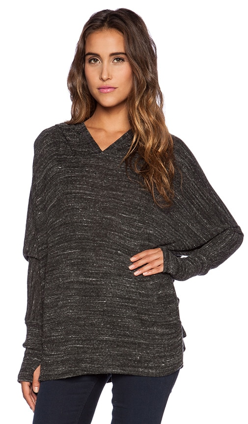 8e3b0f124db Michael Lauren Adrian Oversized Hoodie Tee in Heather Charcoal | REVOLVE