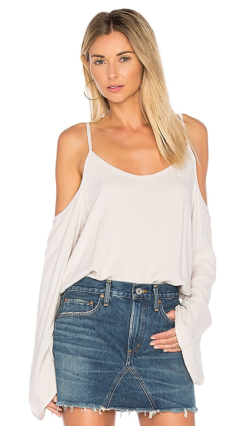 Michael Lauren Sampson Cold Shoulder Top in Gray