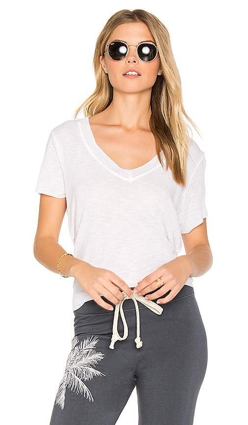 Michael Lauren Miller Fray Edge Tee in White