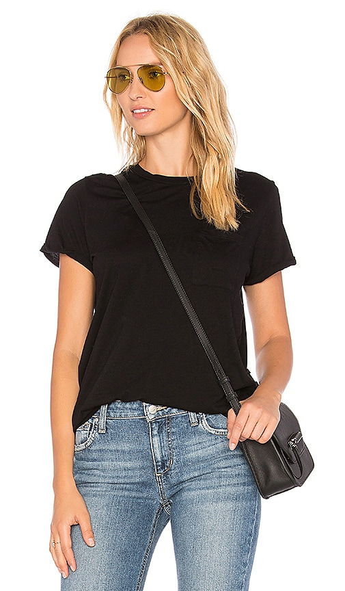 Michael Lauren Griffin Pocket Tee in Black