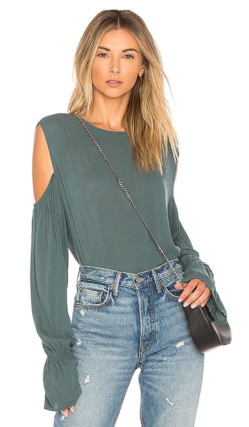 Michael Lauren Sammy Blouse in Green