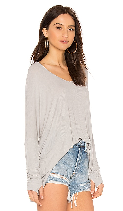 Michael Lauren Sherman Long Sleeve Top in Gray