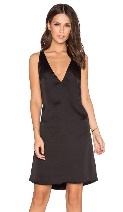 MLM Label 2 Way V Neck Dress in Black