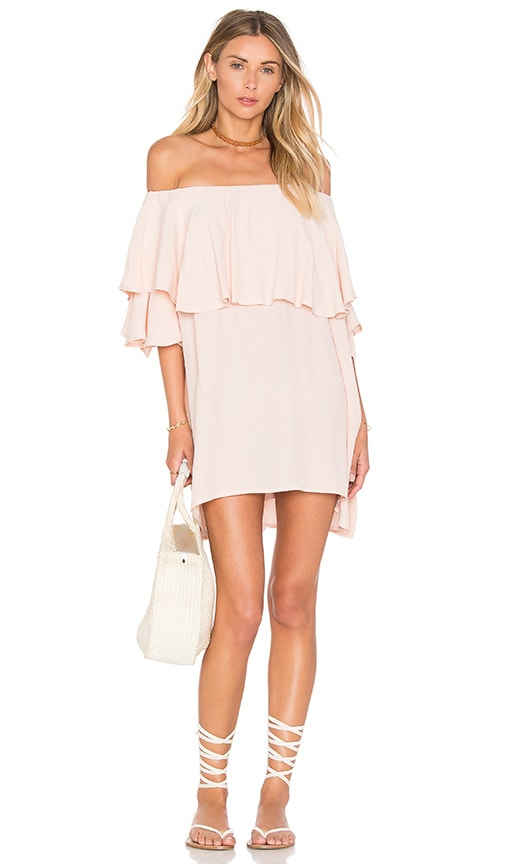 MLM Label Maison Shoulder Dress in Blush