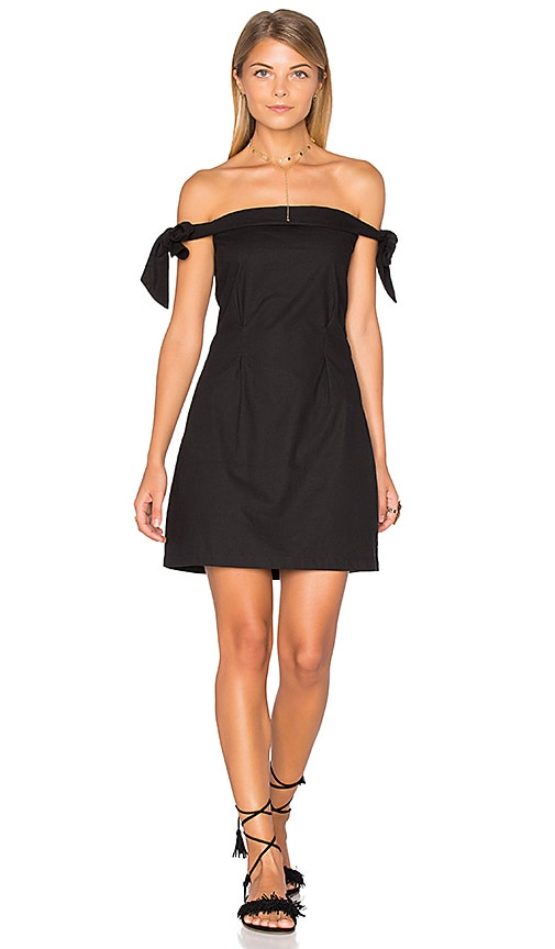 MLM Label New York Shoulder Dress in Black
