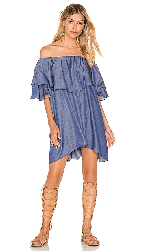 MLM Label Maison Shoulder Dress in Blue